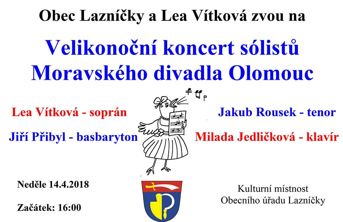 Velikonoční koncert sólistů Moravského divadla Olomouc