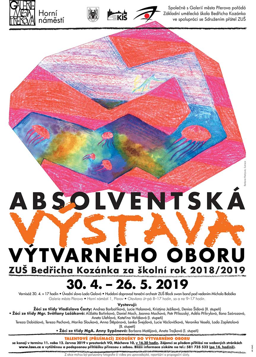 Absolventská výstava výtvarného oboru ZUŠ Bedřicha Kozánka
