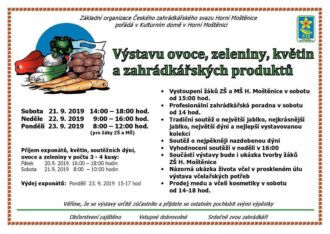 Výstava ovoce, zeleniny, květin a zahrádkářských produktů