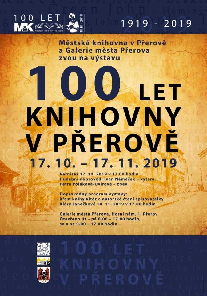 Vernisáž výstavy 100 let knihovny v Přerově