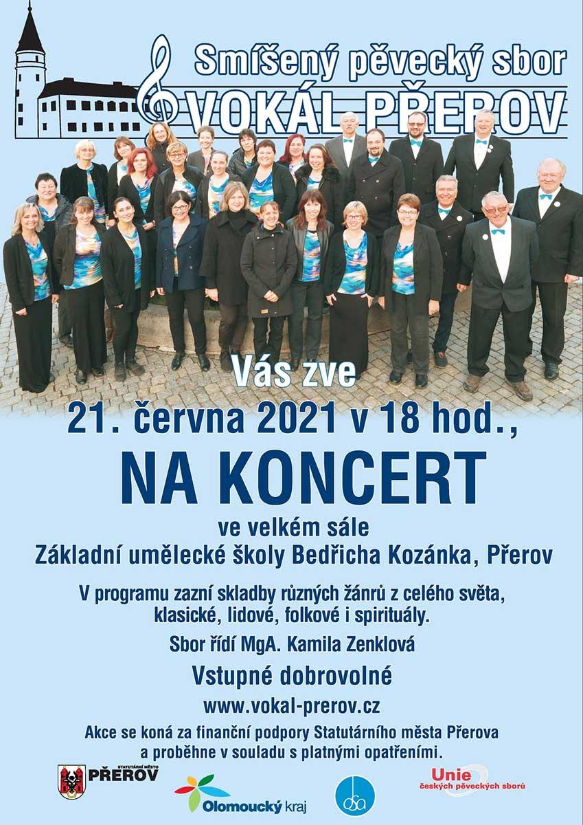 Smíšený pěvecký sbor Vokál - koncert