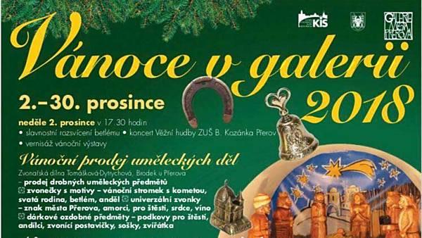 Vánoce 2018 v Galerii města Přerova