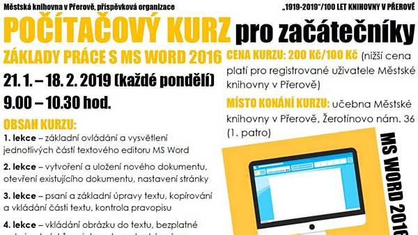 Počítačový kurz Základy práce s MS Word 2016 pro začátečníky