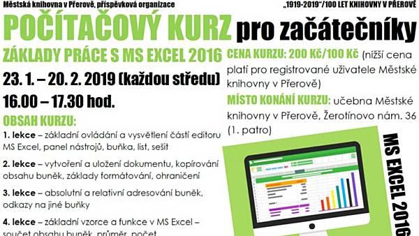 Počítačový kurz Základy práce s MS Excel 2016 pro začátečníky