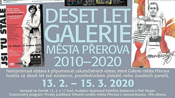 Vernisáž výstavy Deset let Galerie města Přerova